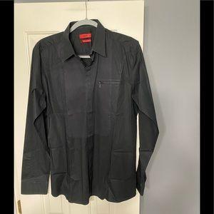 Hugo Boss red tag designer black shirt L